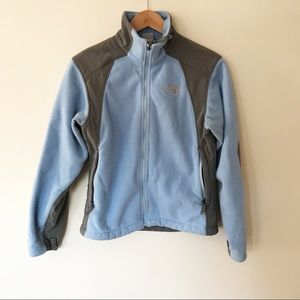 The North Face | Light Blue and Gray Fleece Jacket